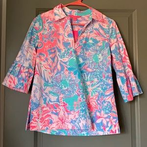 Lily Pulitzer Ginger Top in Blue Peri